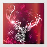 Christmas Deer Canvas Print