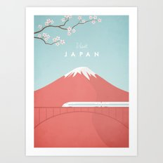 Vintage Japan Travel Poster Art Print