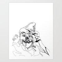Circus Clown Art Print