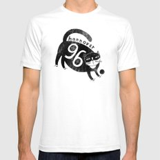 96 Katze SMALL White Mens Fitted Tee