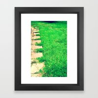 The Path Framed Art Print