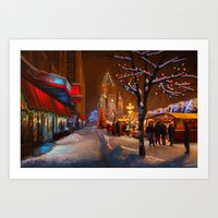 Timisoara Christmas Market Art Print