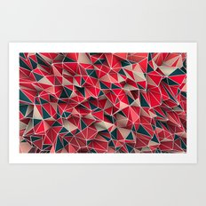 Abstract Red Art Print