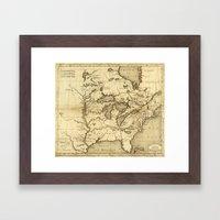 Great Lakes Map - 1737 Framed Art Print