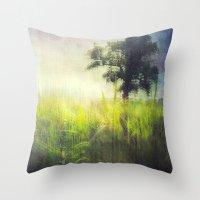 Connie's Backyard Throw Pillow