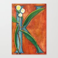 K is for Koa Canvas Print
