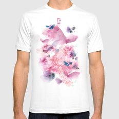 Life in colour White SMALL Mens Fitted Tee