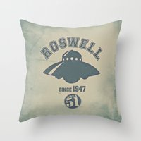 ROSWELL! Throw Pillow