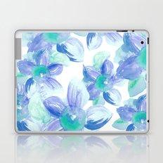 Turquoise Florals Laptop & iPad Skin