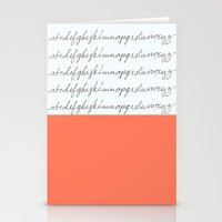 Alphabet-Coral  Stationery Cards