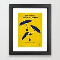 No254 My SINGIN IN THE RAIN minimal movie poster Framed Art Print