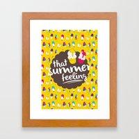 That summer feeling Framed Art Print