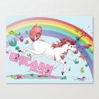 Unicorn: Destroyer Of Po… Canvas Print