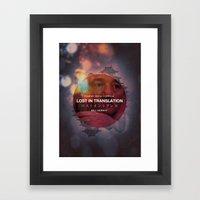 Lost in Translation - Bob/Bill Framed Art Print