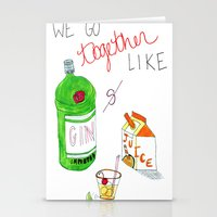 Gin & Juice Stationery Cards