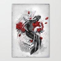 Black Koi Canvas Print