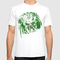 Predator (neon) Mens Fitted Tee White SMALL