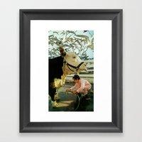 Flocking Framed Art Print