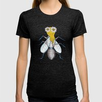 Glamour Fly Womens Fitted Tee Tri-Black SMALL