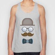 Brown Top Hat, Moustache… Unisex Tank Top