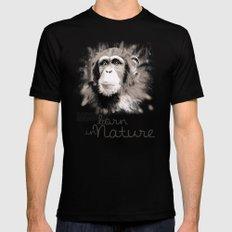 Chimpanzee (BornInNature) SMALL Black Mens Fitted Tee