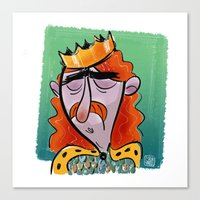 Fallen King Canvas Print