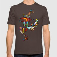 Treehouse Mens Fitted Tee Brown SMALL