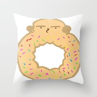 Bovi-doughnut Throw Pillow