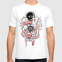 The Blood offering Mens Fitted Tee White SMALL
