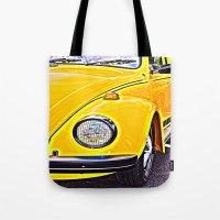 Yellow VW Beetle Tote Bag