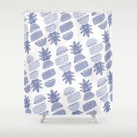 Pineapples (Light/Sliced) Shower Curtain