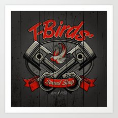 T-Birds Sign Art Print