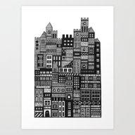 Art Print featuring Castle Infinitus by Marcelo Romero