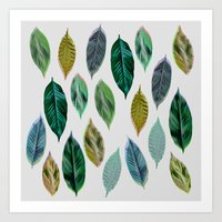 Green Leaves 2 Art Print