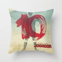 Color Soccer Throw Pillow