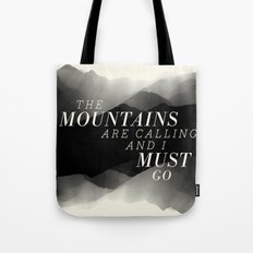 Mountains - BW Tote Bag