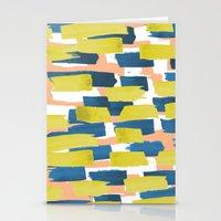 beach stripe Stationery Cards