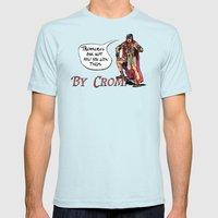 CROMIC #61 - Treasures Ask Not Mens Fitted Tee Light Blue SMALL