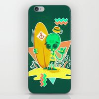 Alien Surfer Nineties Pattern iPhone & iPod Skin