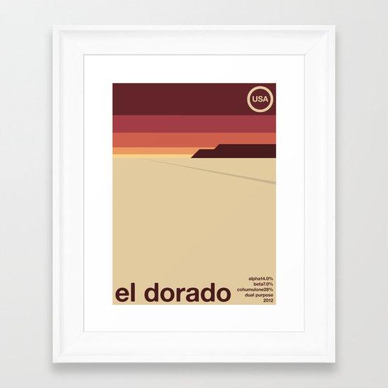 el dorado single hop Framed Art Print