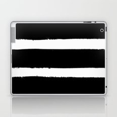 Black & White Paint Stripes by Friztin Laptop & iPad Skin