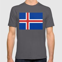 National flag of Iceland - Authentic Mens Fitted Tee Asphalt SMALL