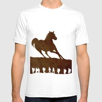 War Horse Mens Fitted Tee White SMALL