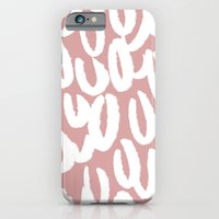 Mauve brushed pattern - classy college student collection iPhone 6 Slim Case
