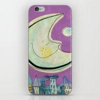 Moon - purple iPhone & iPod Skin
