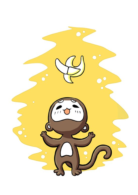 Monkey Banana Art Print