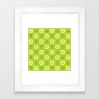 Synchronized Fireflies Framed Art Print