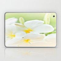 White Plumeria 2 Laptop & iPad Skin