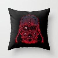Monster Vader Throw Pillow