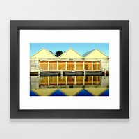 Reflections Of An Old Bo… Framed Art Print